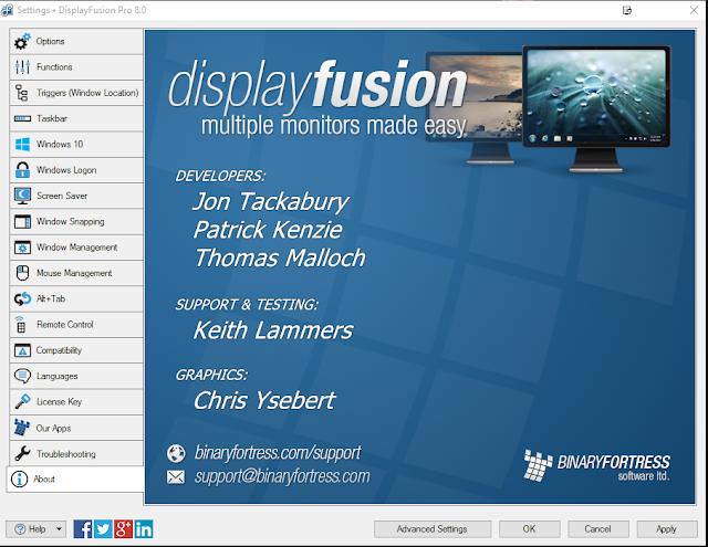 DisplayFusion Pro 8.X.