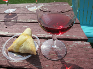 Samosa with Diamond Estates FRESH Sparkling Rosé