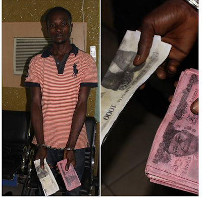 Men Who Photocopied Naira Notes And Went To Deposit Them In A Bank Arrested (Photos)