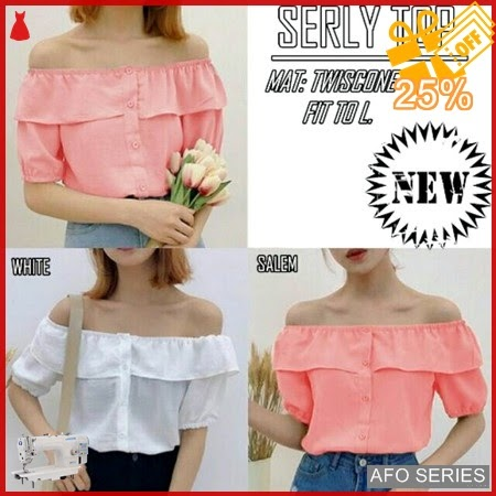 AFO732 Model Fashion Serly Top Modis Murah BMGShop