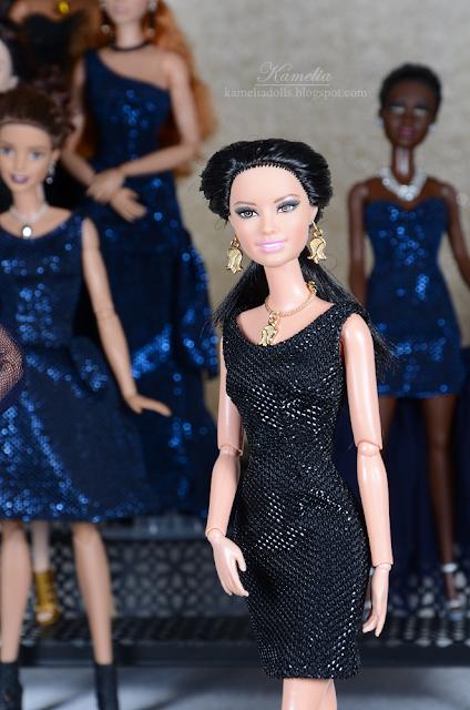 Little black dress for Barbie doll