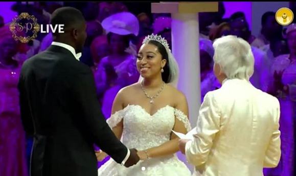 Photos from the church wedding of Pastor Chris Oyakhilome's daughter, Carissa to her Ghanaian husband