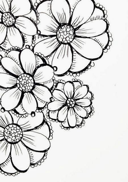 Flowers Drawing Sketching
