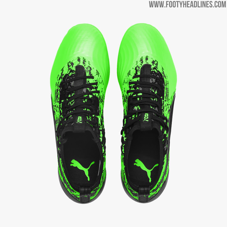 9e9e7c6f4 Puma have just launched a spectacular new black and green colorway for the ONE  19.1 boot as part of the 'Hacked Pack', which also includes a new Puma  Future ...