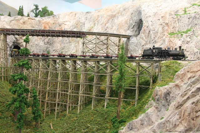 Amazing artworks, Creativity of Skip's layout is the Arcadia and Betsie River RR