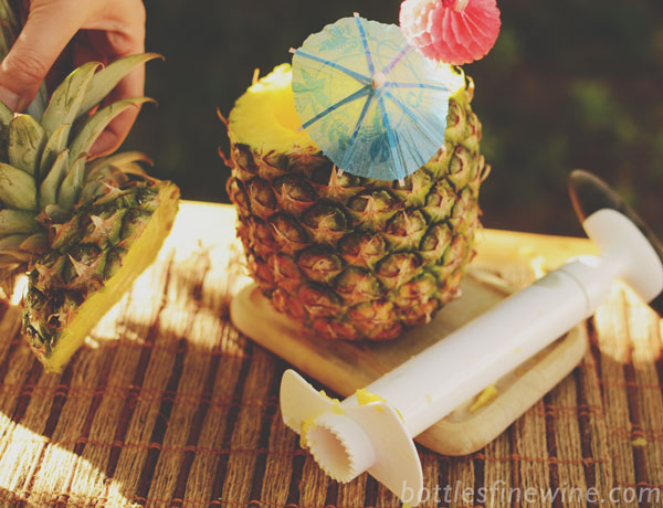 pineapple corer edible punch bowl