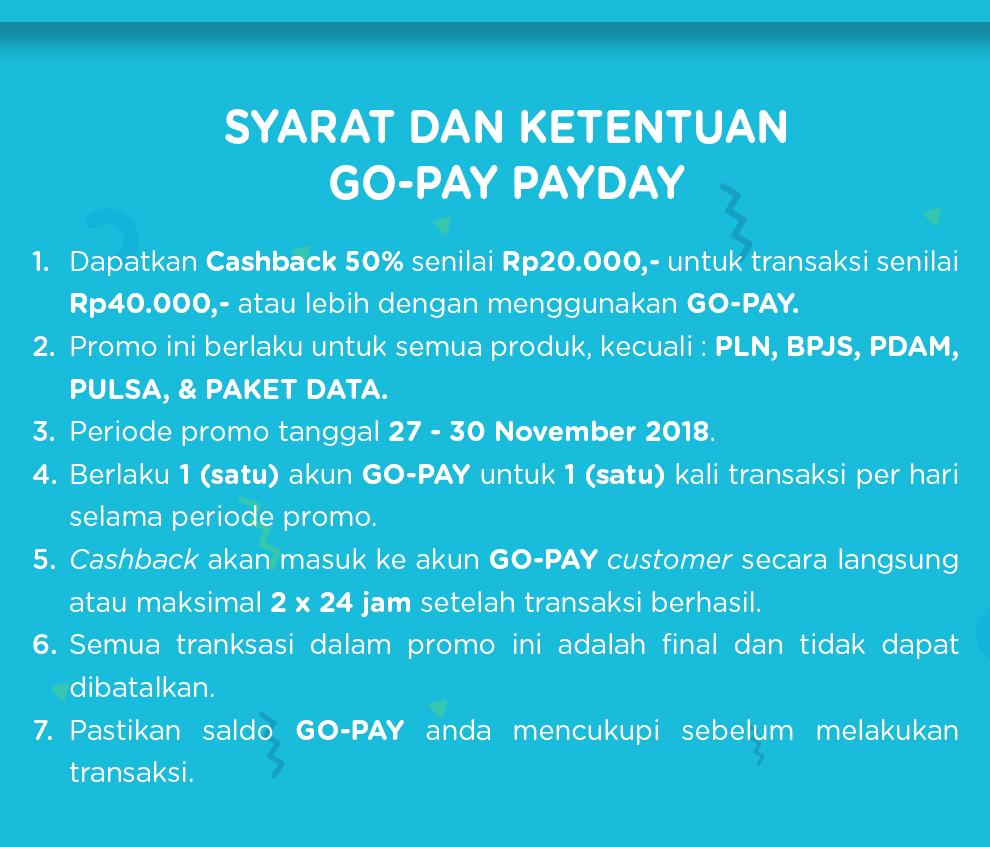 JDID - Promo Cashback 50% Pakai GOPAY (s.d 30 Nov 2018)