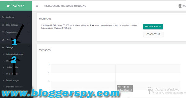 How To Setup Free Browser Push Notifications For Blogger