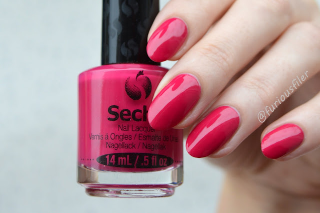 seche rendezvous swatch raspberry pink nailbox january valentine's