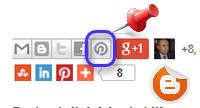 Blogger Yeni Pinterest İconu
