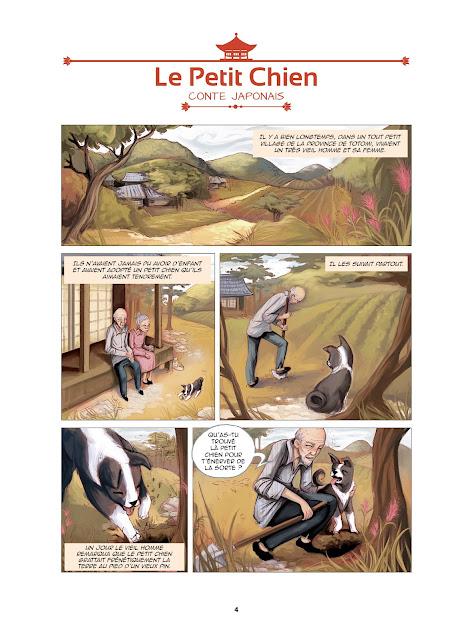 page de contes asiatiques en BD chez Petit à Petit