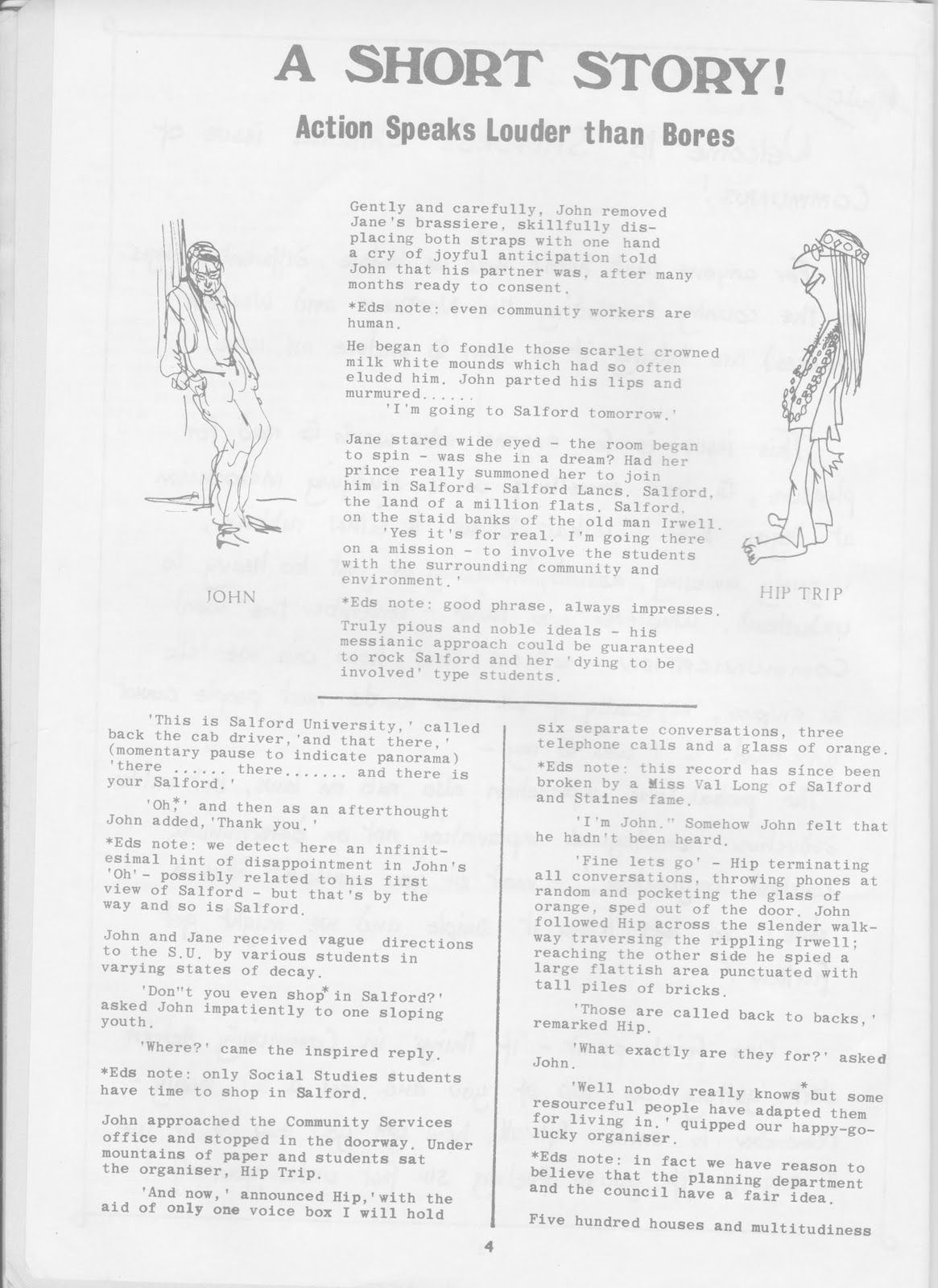 Reminiscenses: Student Community Action, Salford, 1974