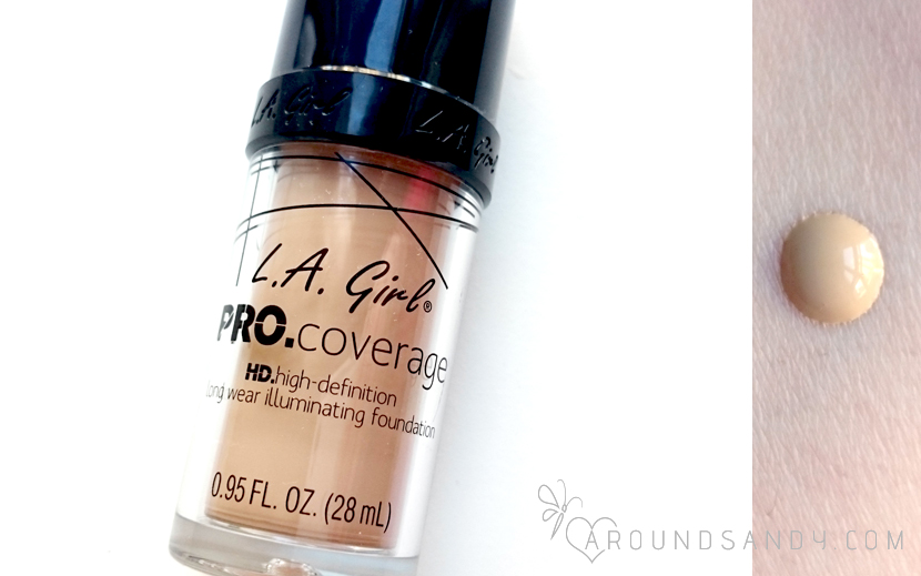 l.a. girl pro coverage hd long wear illuminating foundation