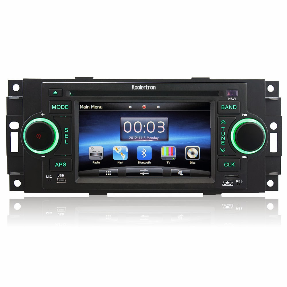 Koolertron Car DVD GPS Player with Digital Touch Screen for Chrysler Series