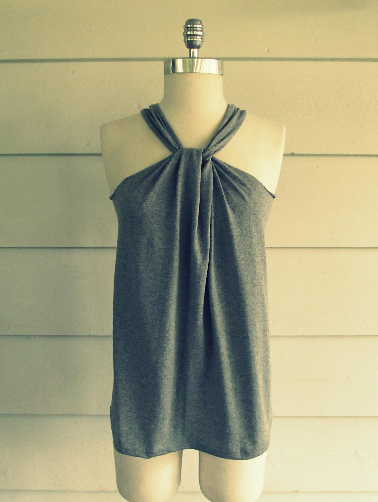 wobisobi no sew tee shirt halter 3 diy. Black Bedroom Furniture Sets. Home Design Ideas
