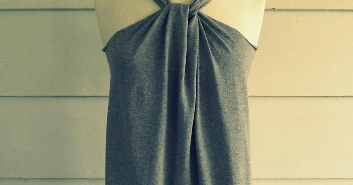 No Sew, Tee-Shirt Halter #3, DIY