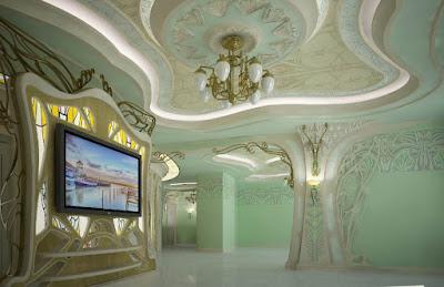 Лепной потолок в стиле Модерн - Волгоград