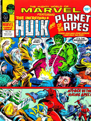 Mighty World of Marvel #239, Hulk and Planet of the Apes