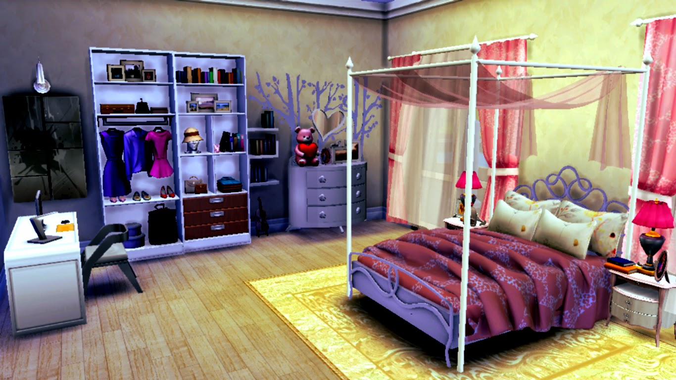 Sims 4 Room Downloads:Catchy Sweet Bedroom