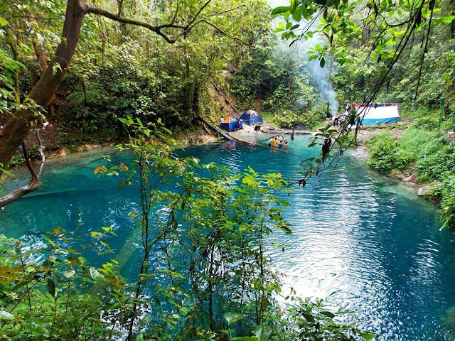 foto camping di danau kaco jambi