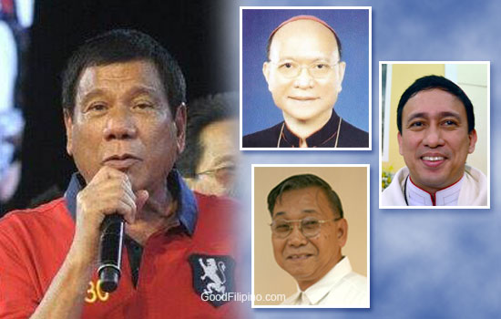 3 Bishops praise President-elect Rodrigo Duterte