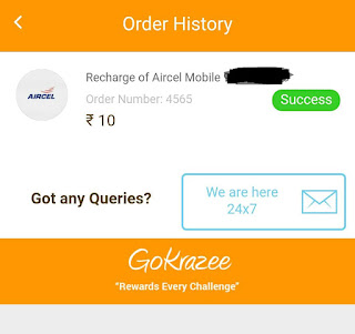 gokrazee free recharge trick