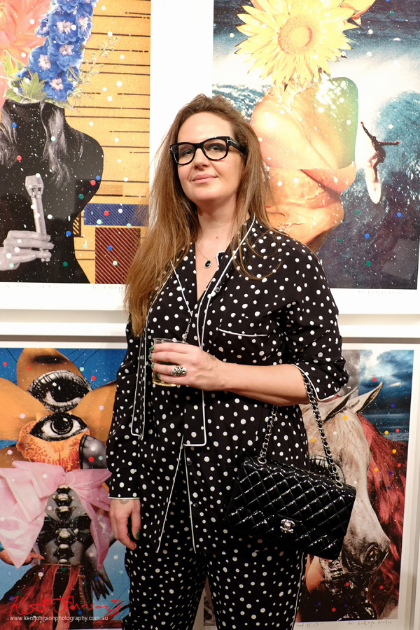 Opening night portrait of Del Kathryn Barton at Roslyn Oxley9 gallery for the her new show 'angel dribble'.