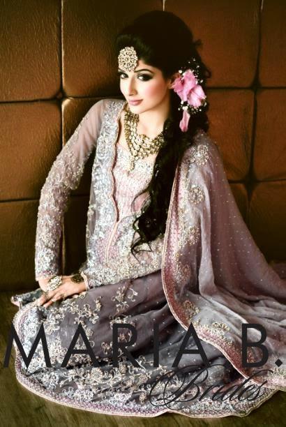 Maria B Beautiful Latest Bridal Wear Collection 2014-2015 fashionwearstyle.com
