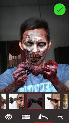 mengubah foto menjadi zombie diandroid