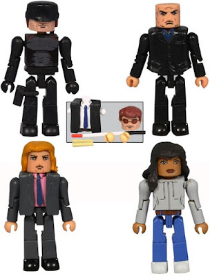 Marvel's Daredevil Television Series Minimates Box Set by Diamond Select Toys - Daredevil, Nurse Claire Temple, Foggy Nelson & The Kingpin Wilson Fisk