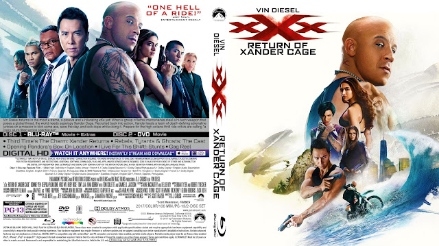 xXx: Return of Xander Cage Bluray Cover