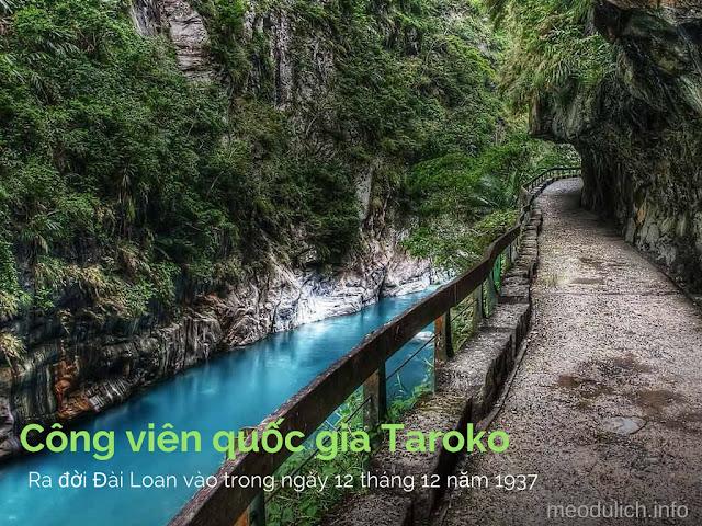 công viên Quốc Gia Taroko Đài Loan có rất dồi dào đá cẩm thạch
