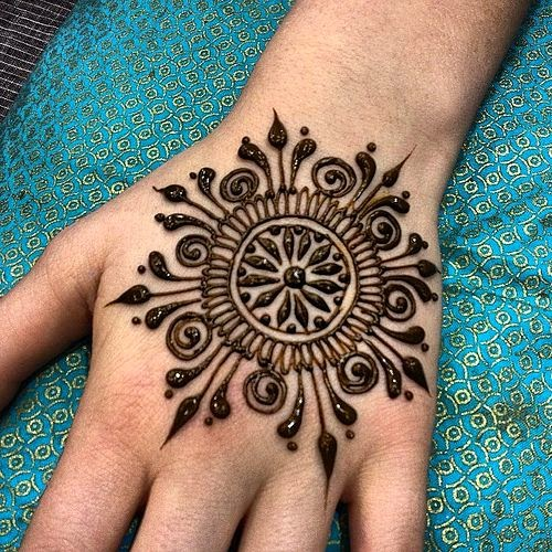 simple henna tattoo design for hands