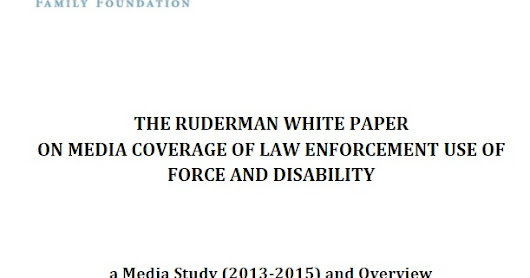 The Ruderman White Paper on Law, Media, Disability