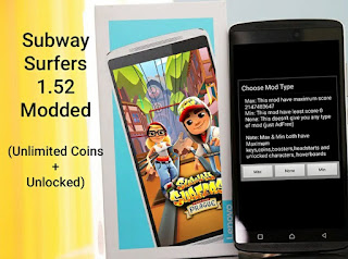 Subway Surfers Mod Unlimited Coins + Unlocked 1.52 APK Update Terbaru Maret 2016
