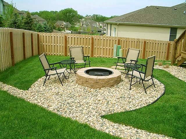 Backyard patio ideas for small spaces ayanahouse - Small backyard fire pit ideas ...
