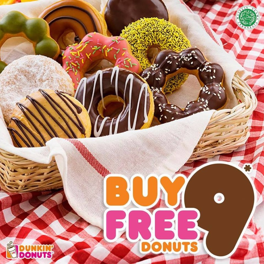 Promo Dunkin Donuts Beli 9 Gratis 9 Desember 2017