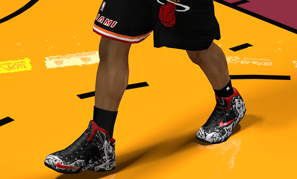 "Nike LeBron 11 ""Graffiti"" NBA2K14"
