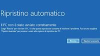 """Soluzione """"PC non avviato correttamente"""" o """"BOOTMGR mancante"""" in Windows 10"""