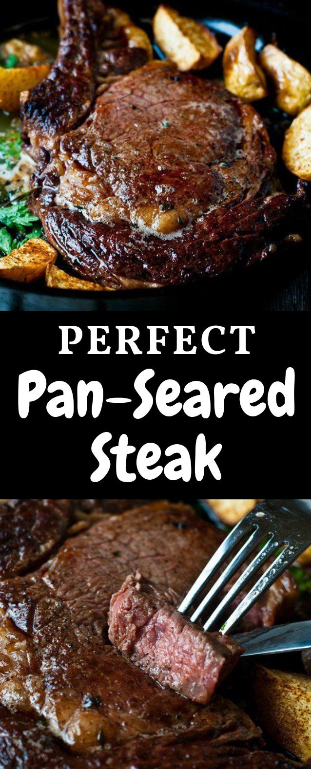 Perfect Pan-Seared Steak #Dinner #Steak