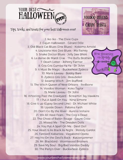 New Orleans Halloween, Halloween Playlist, zydeco, cajun, cabaret