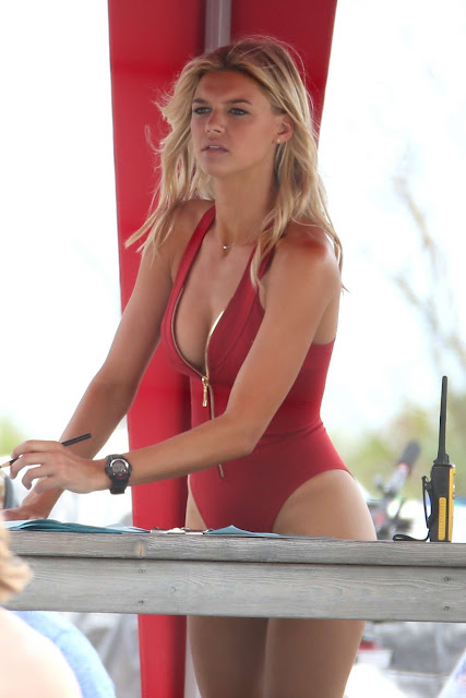 Kelly Rohrbach – In Red Swimsuit