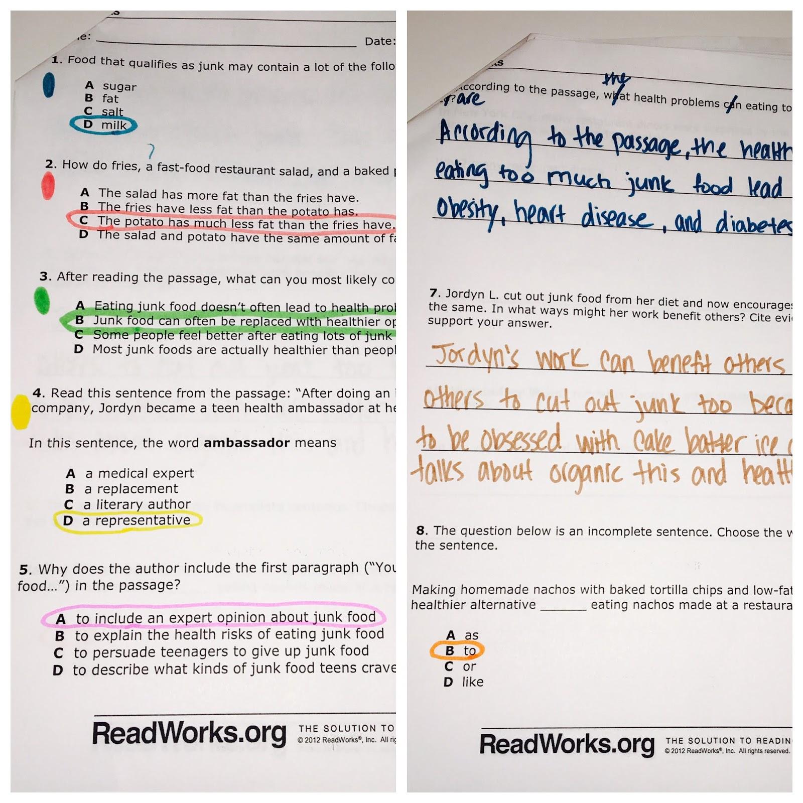 Elementary Teacher Files: Color Coding Reading Passages