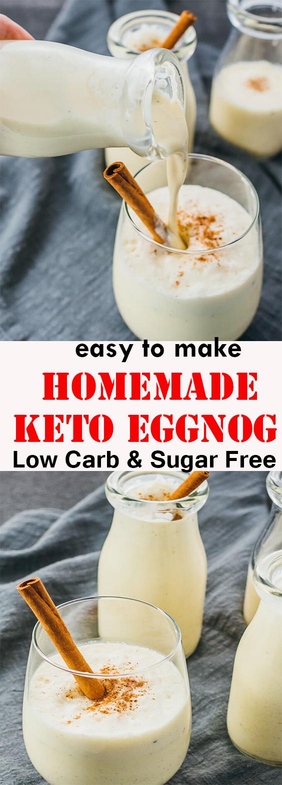 homemade Keto Eggnog