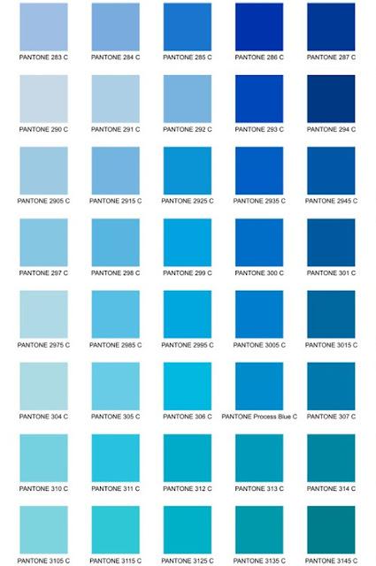 azulados tipos de azul