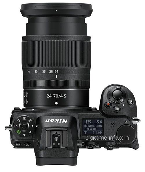 Nikon Z6, вид сверху