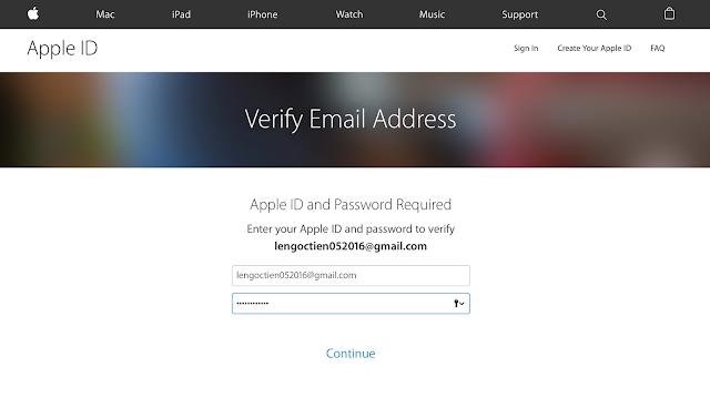 Nhập lại ID Apple và mật khẩu