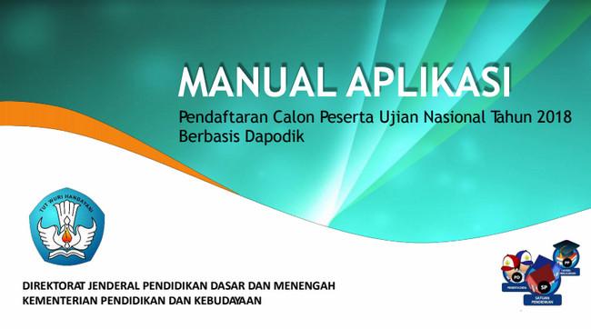 Manual Aplikasi Pendaftaran CPUN Tahun 2018 Berbasis Dapodik