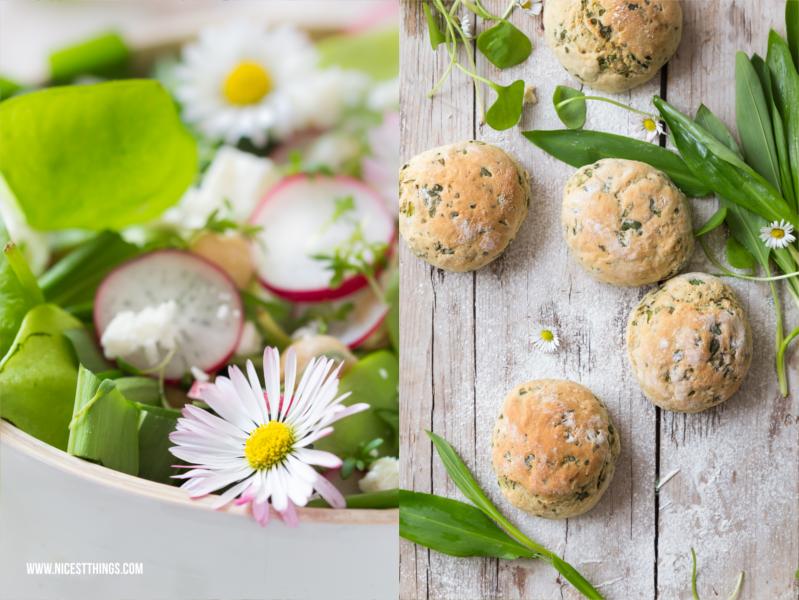 Frühlingssalat mit Bärlauchbrötchen