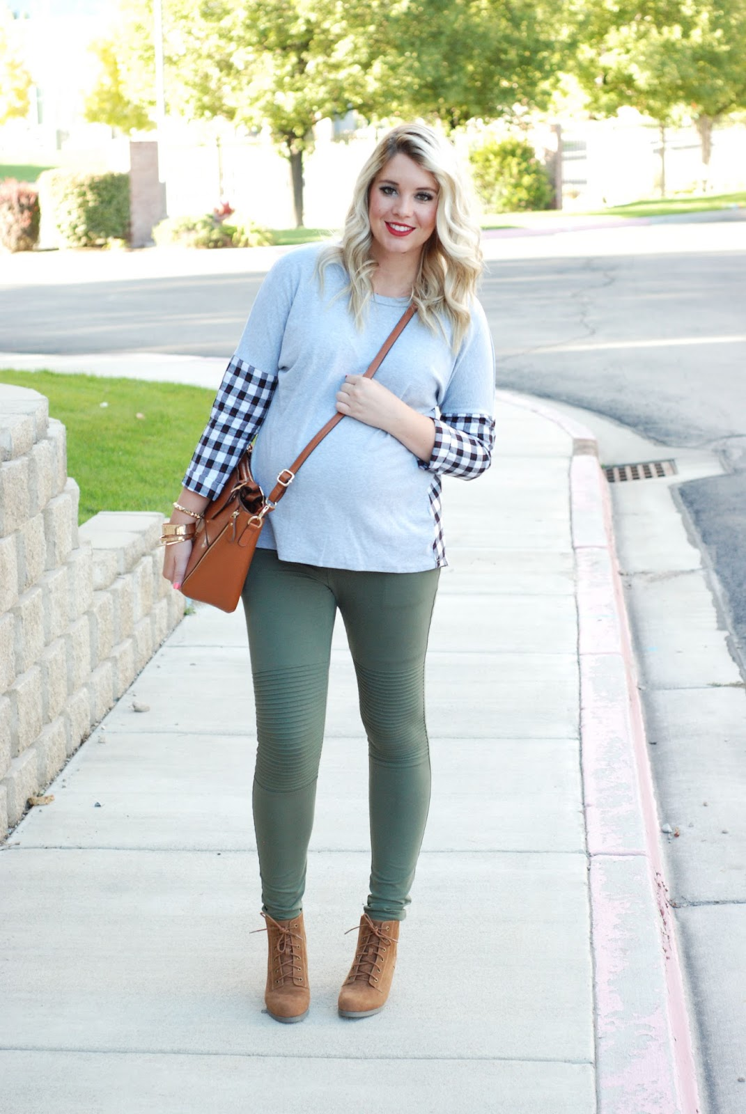 Plaid Shirt, Green Leggings, Choies, Utah Fashion Blogger
